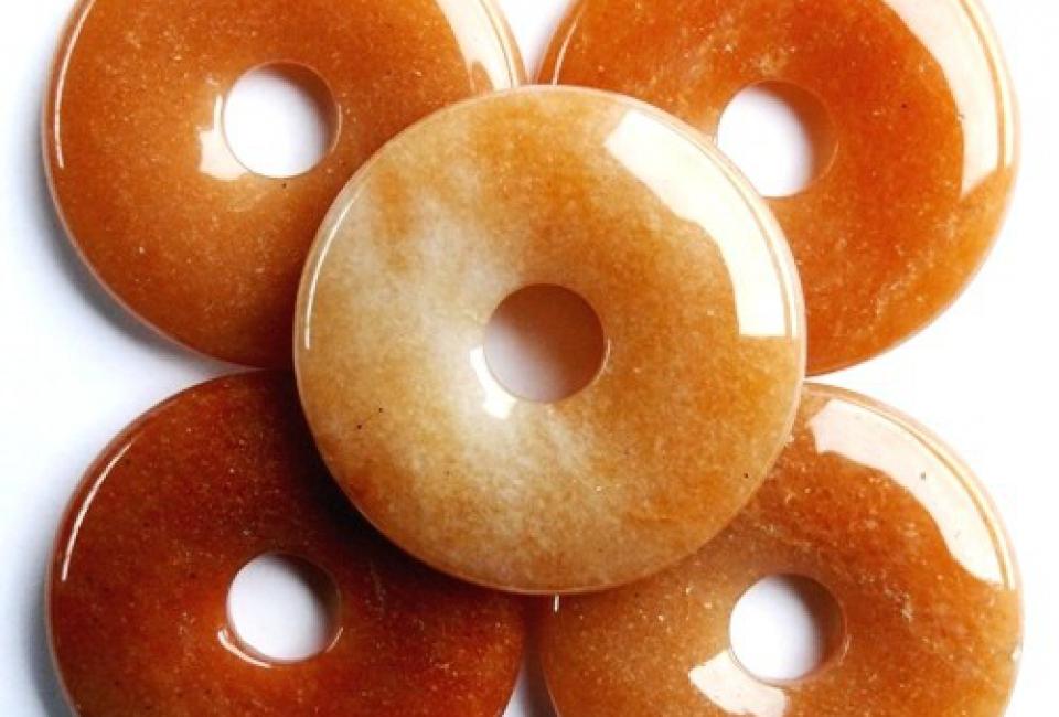 Donut Aventurijn Oranje 4 cm