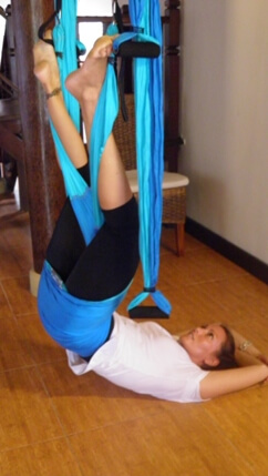 Uithangen in de Yoga Swing